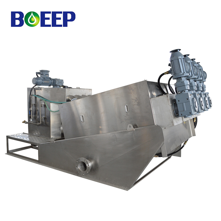 Hassle-free multi-plate volute screw sludge dewatering for sewage treatment plant