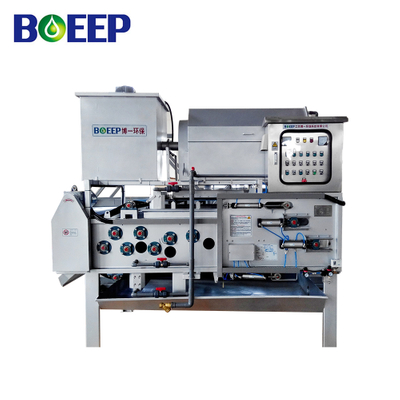 Continuous Belt Press Dewatering Machine for Anaerobic Digested Sludge Waste