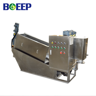 Clog Free Volute Press Sludge Dehydrator for Brewery Wastewater Treatment