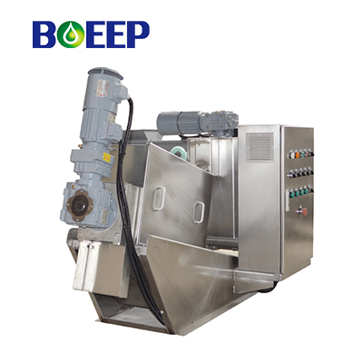 Labor Saving Volute Screw Press Separator for Anaerobic Digested Sludge