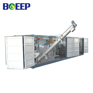 Mobile Containerized Sewage Dewatering Equipment for Decanter Sludge Treatment