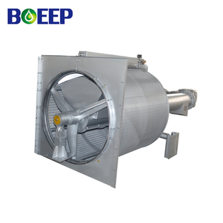 Rotary Drum Screen with Mechanical Screening Function for Wastewater Filtration