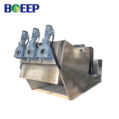 Non Clogging Screw Filter Press Machine for DAF Sludge Dewatering