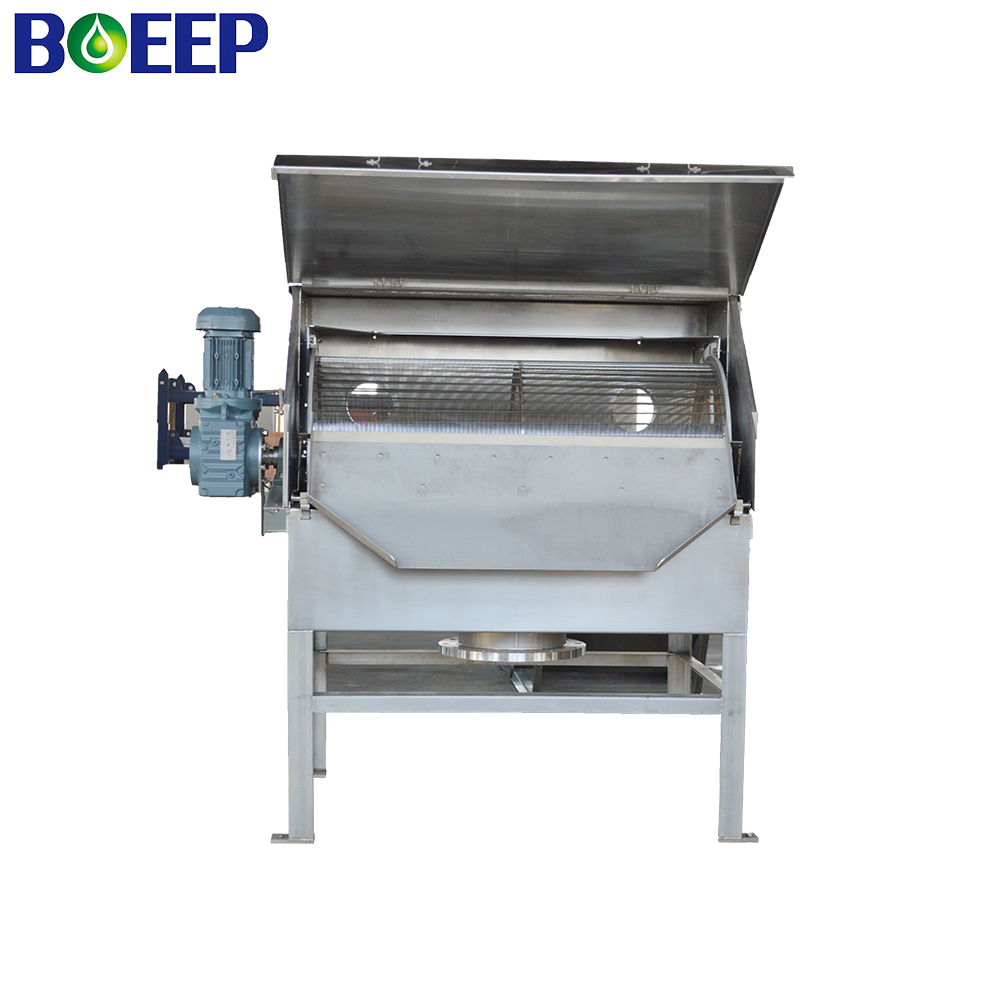 External Rotary Drum Screen for Primary Treatment of Wastewater Screening