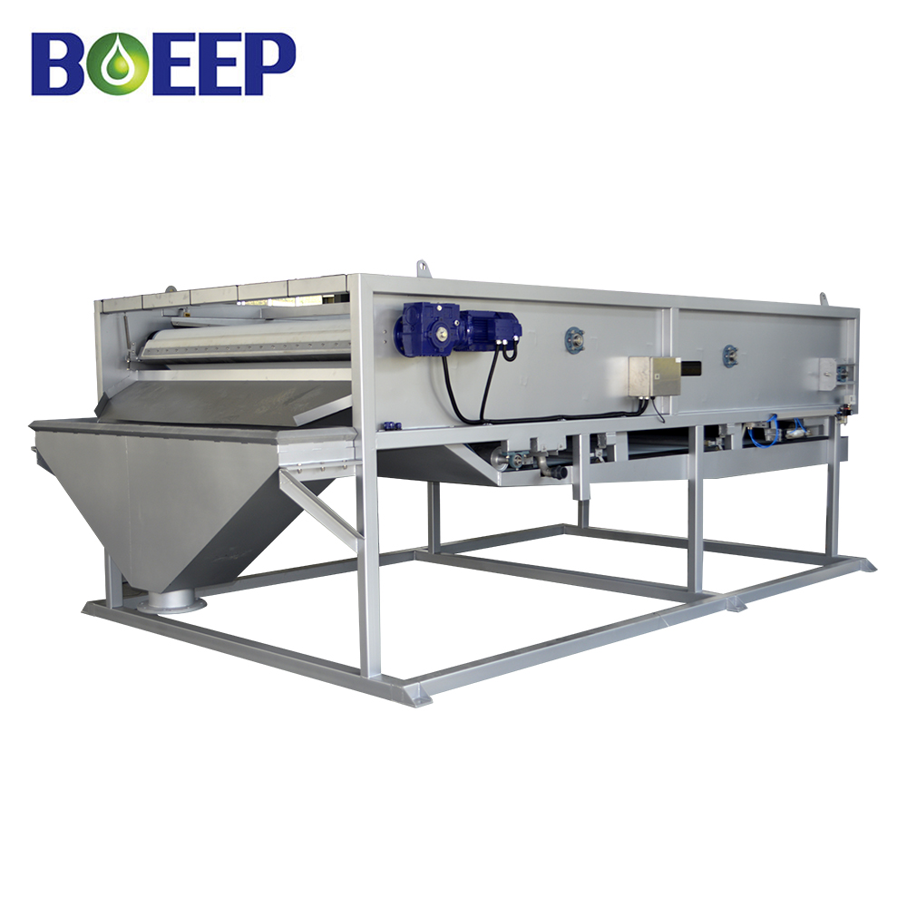 Low Cost Gravity Belt Filter Press Thickener for Inorganic Sludge Treatment